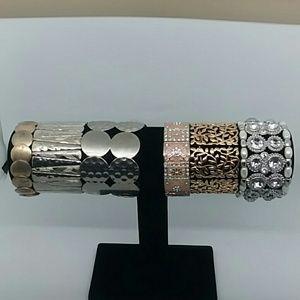 6 piece bundle of Metallic Stretch Bracelets